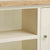 Close up of shelf on The Daymer Cream Large Wooden Kitchen Dresser Hutch