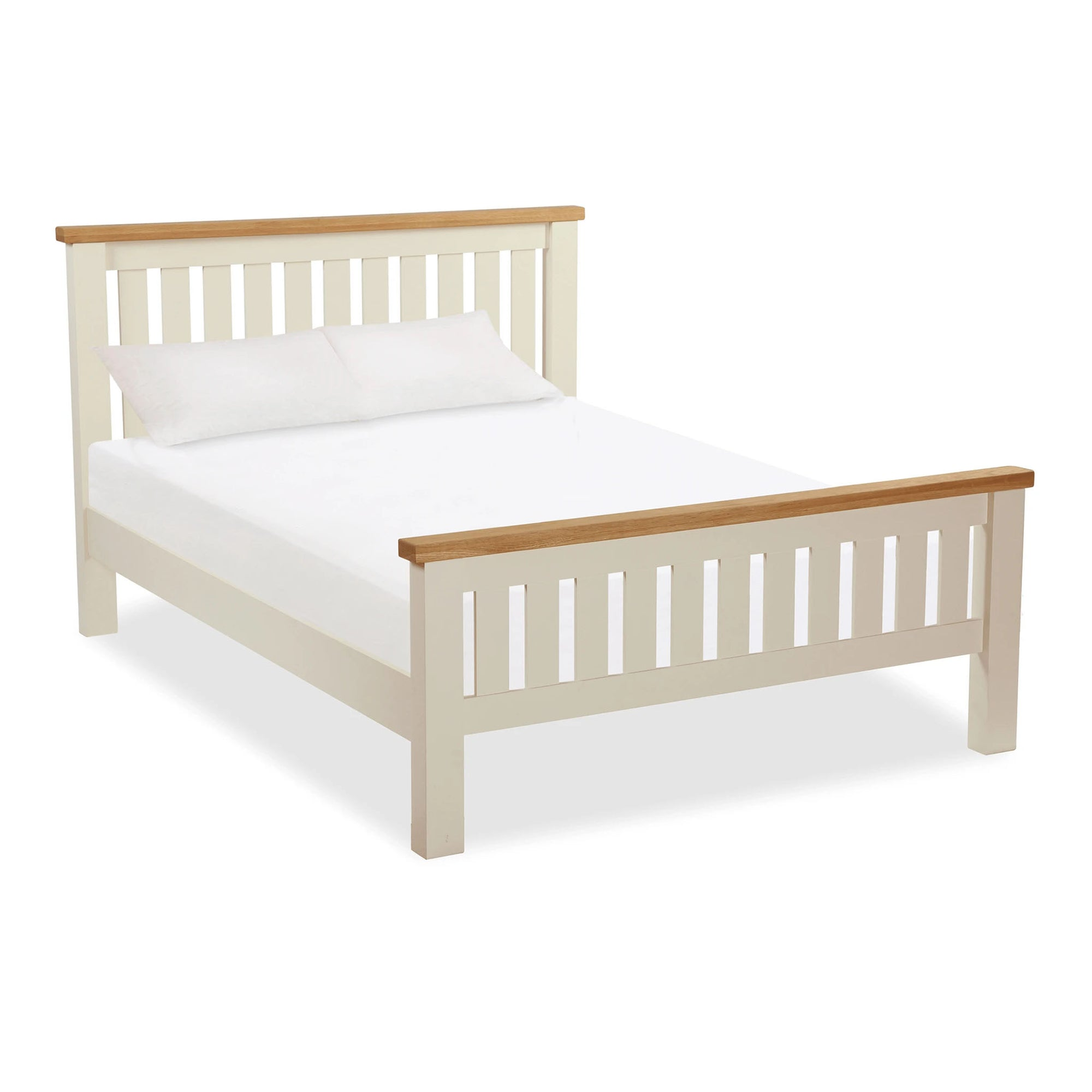The Daymer Cream Wooden Double Bed Frame from Roseland Furniture