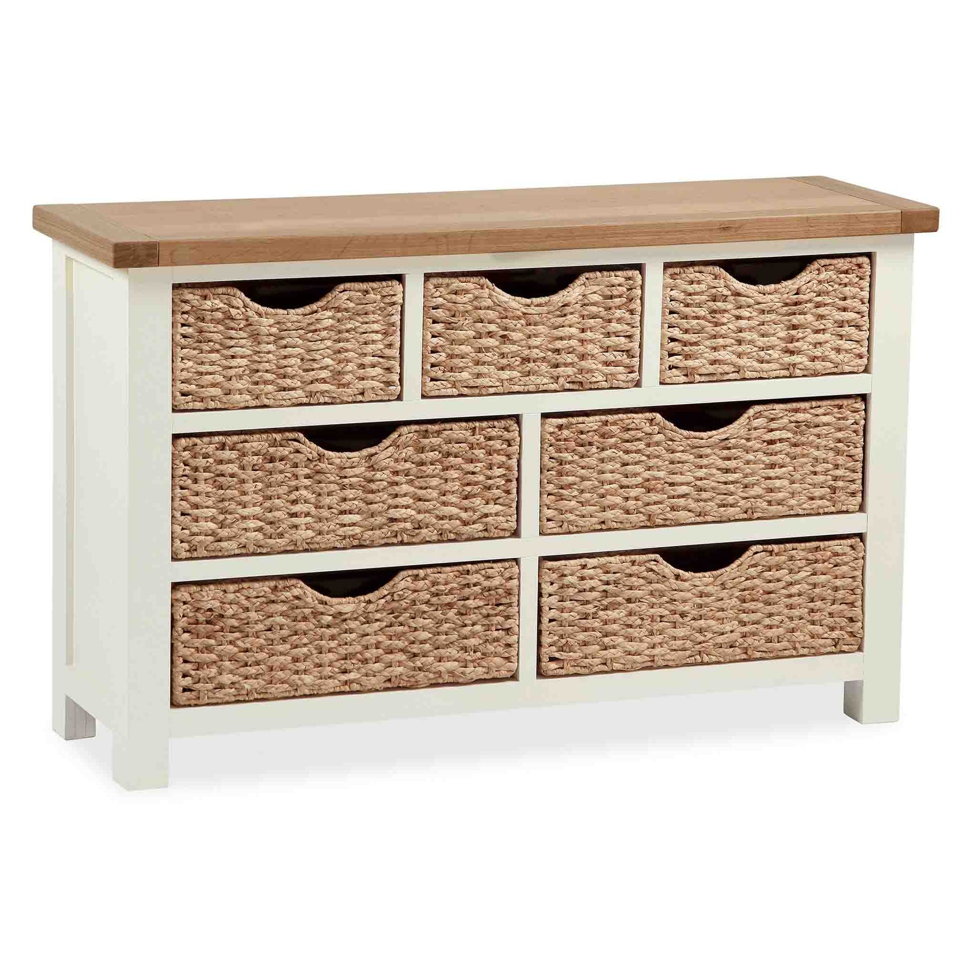 The Daymer Cream Oak Storage Chest with Baskets from Roseland Furniture