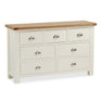 The Daymer Cream Large Chest of Drawers from Roseland Furniture