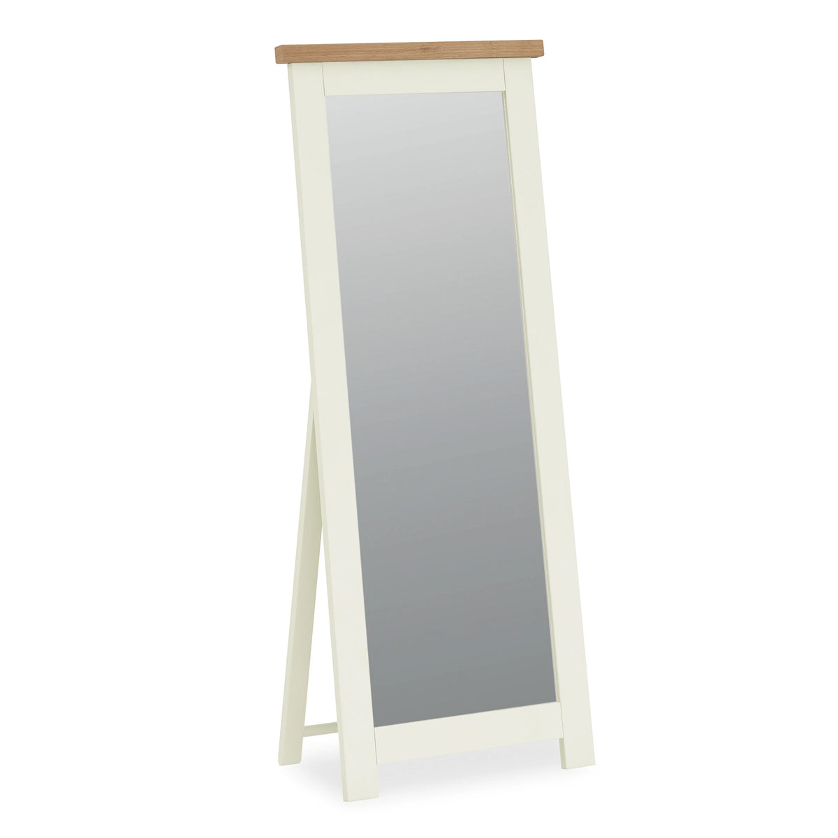 The Daymer Cream Tall Wooden French Cheval Bedroom Mirror from Roseland Furniture