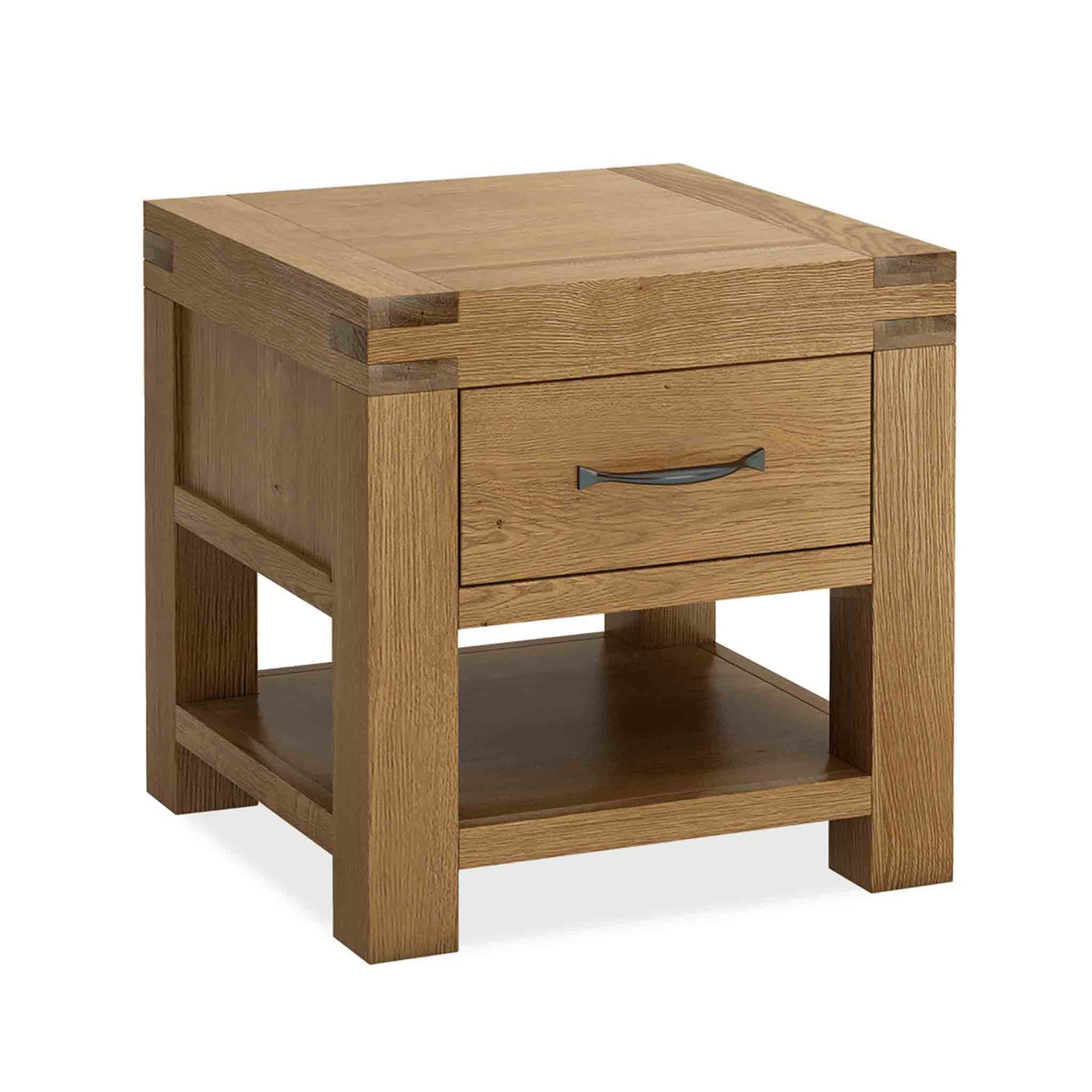 The Abbey Grande Oak Side Lamp Table by Roseland Furniture