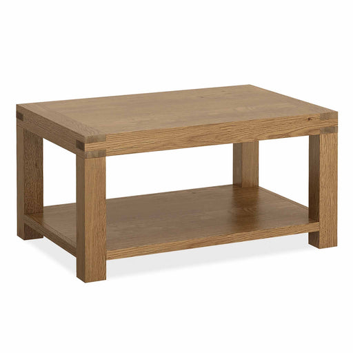 The Abbey Grande Low Oak Coffee Table from Roseland Furniture