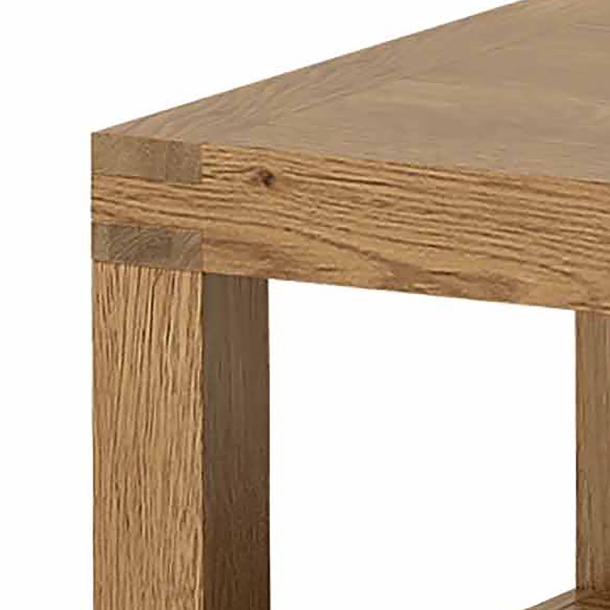Abbey Grande Oak Coffee Table - Top Corner Close Up