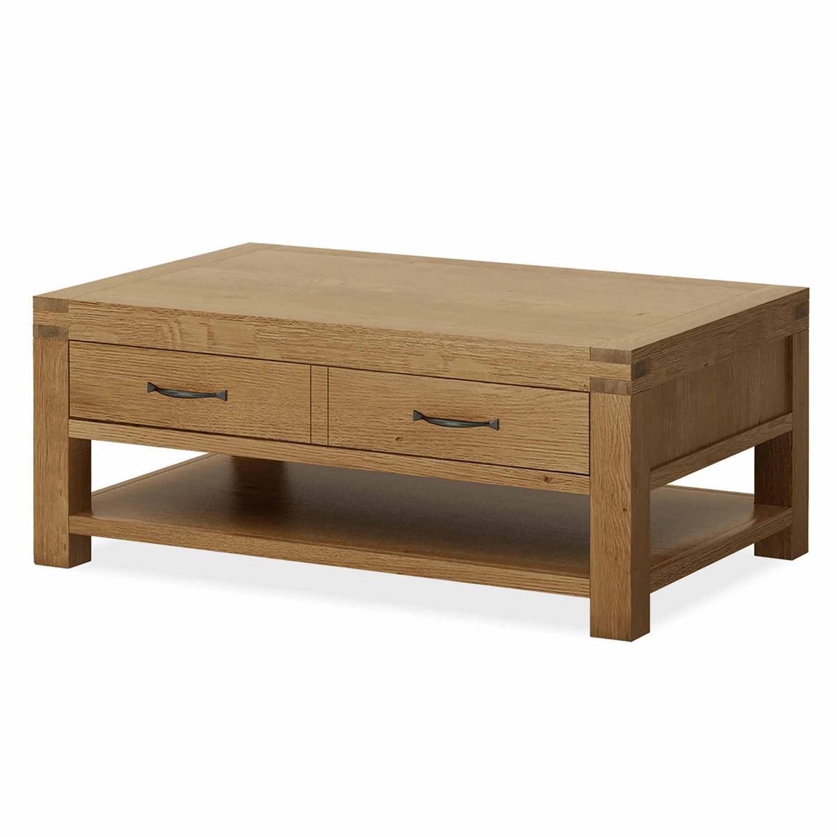 Abbey Grande Oak Coffee Table with Storage Drawer