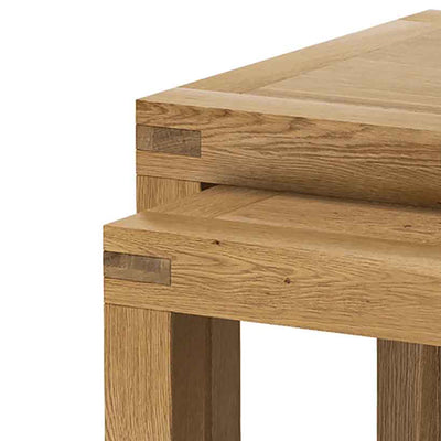 Abbey Grande Nest of Tables - Close Up of Tenon Joints