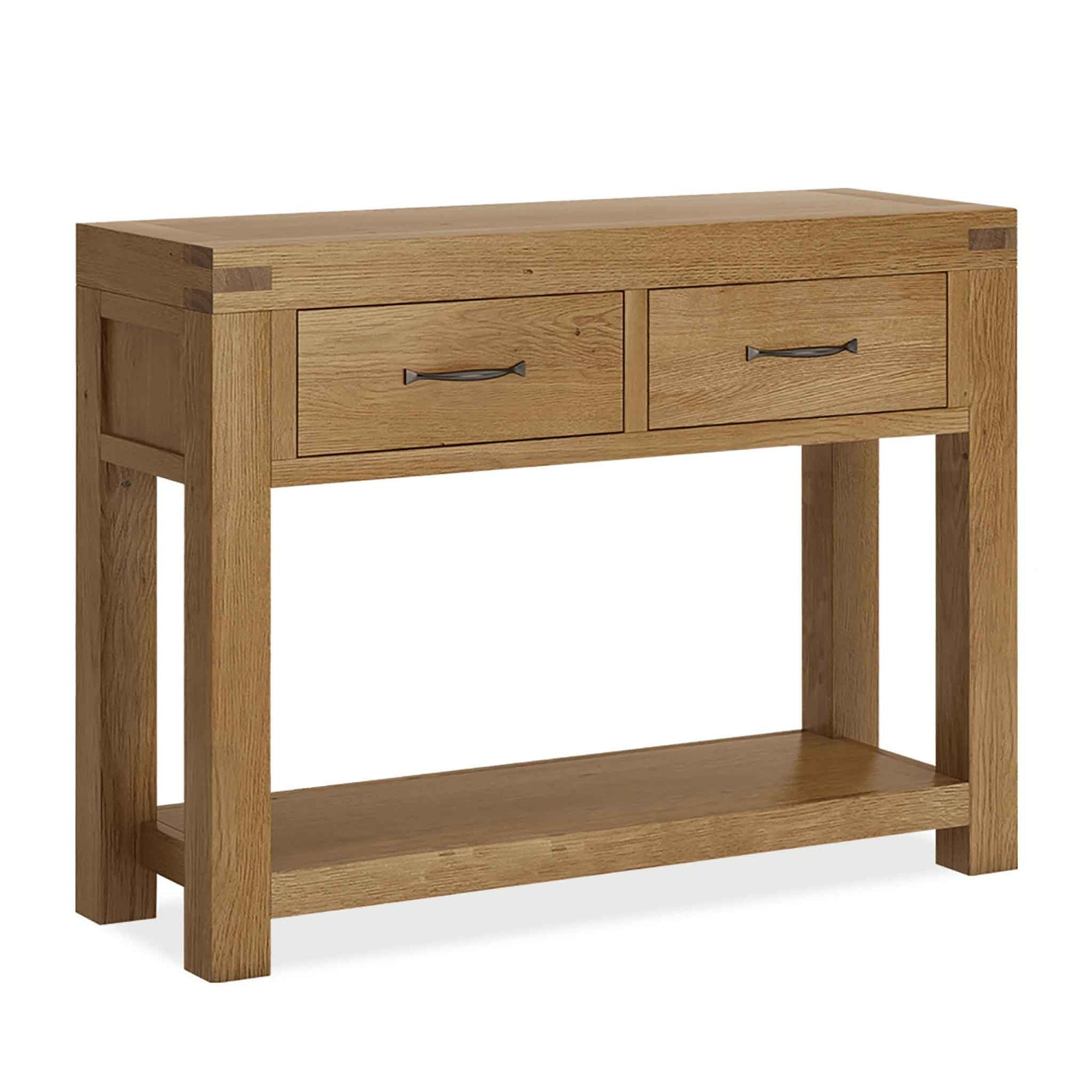 The Abbey Grande Oak Console Table with Drawers by Roseland Furniture