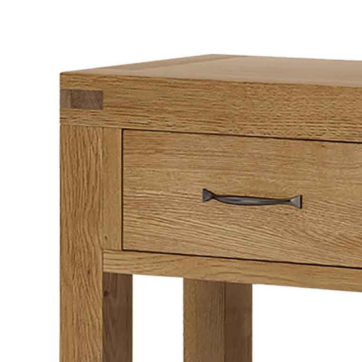 Abbey Grande Oak Console Table - Close up of Drawer