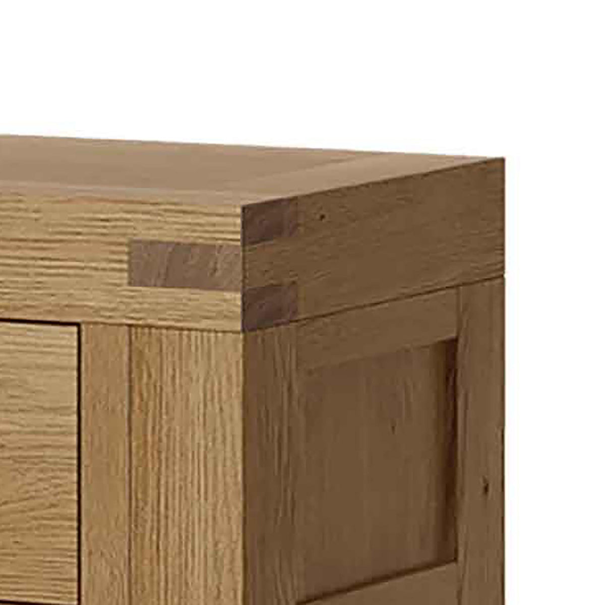 Abbey Grande Oak Console Table - Close up of Tenon Joint