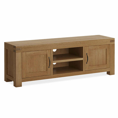 The Abbey Grande 160cm Oak TV Stand Storage Unit from Roseland Furniture