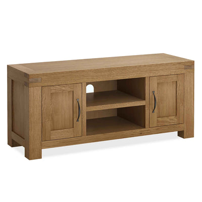The Abbey Grande 125cm Oak TV Stand by Roseland Furniture
