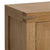 The Abbey Grande 90cm Oak Small TV Stand - Close Up of Top Corner