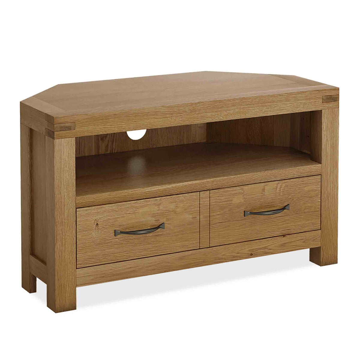 The Abbey Grande Oak Corner TV Stand by Roseland Furniture