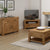 Abbey Grande Oak Corner TV Stand - Lifestyle