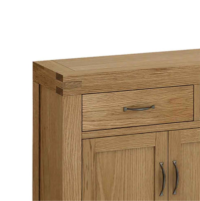 The Abbey Grande Extra Large King Oak Sideboard - Close Up of Drawer