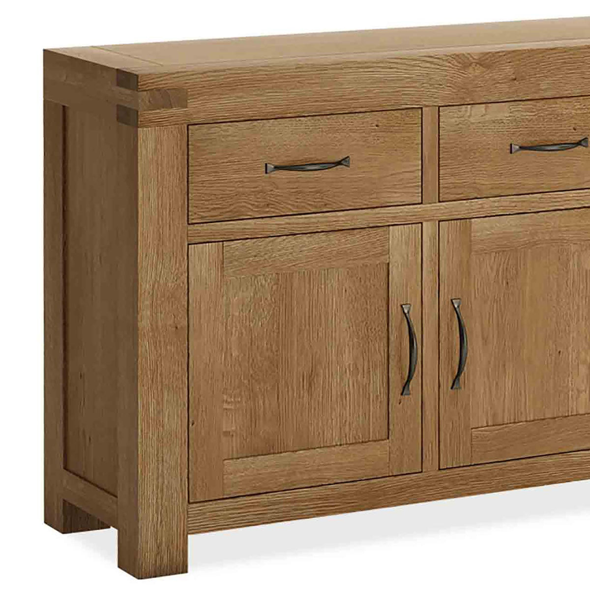 The Abbey Grande Oak Large Sideboard - Close Up of Cupboard