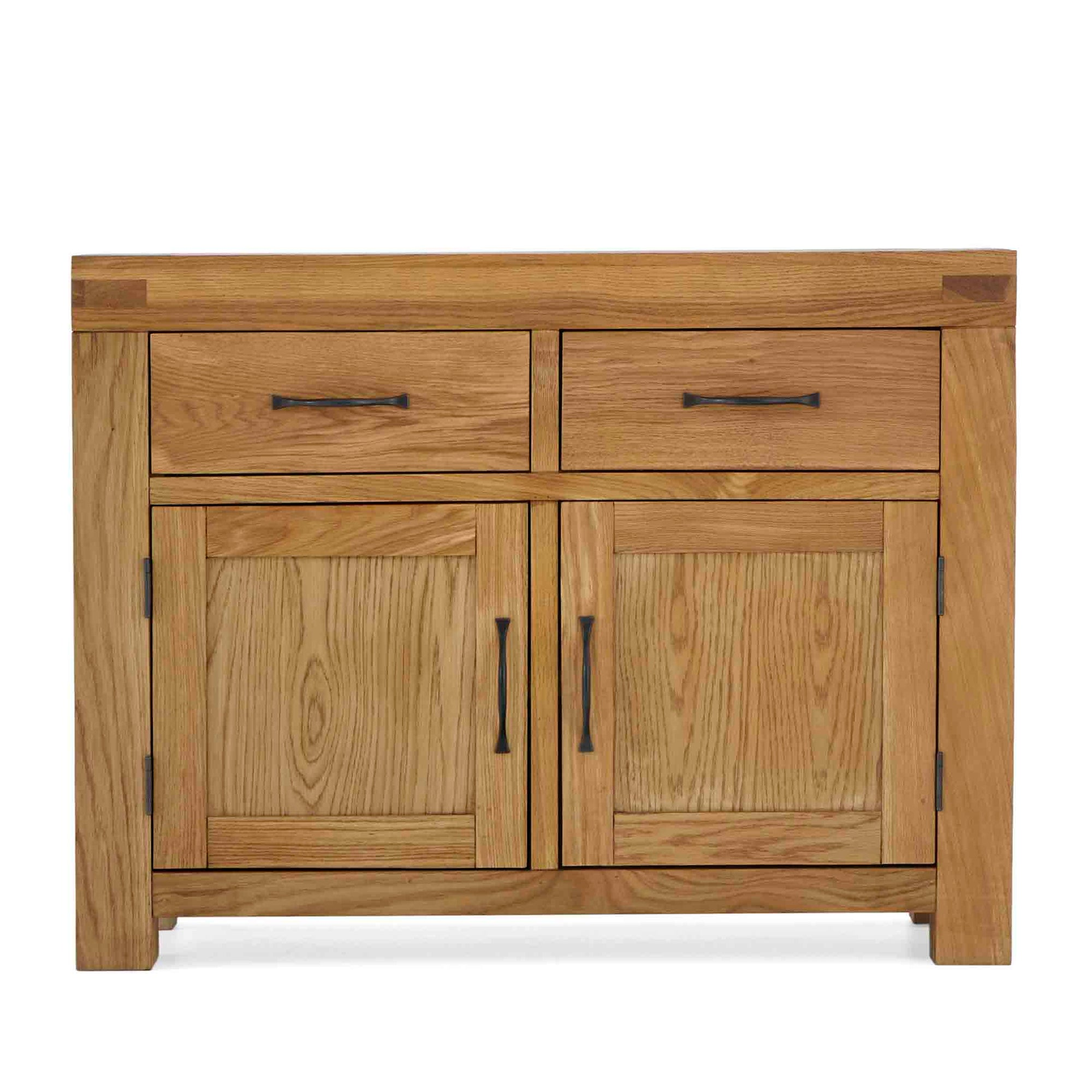 Abbey Grande Oak Small Sideboard Cabinet with 2 Drawers by Roseland Furniture