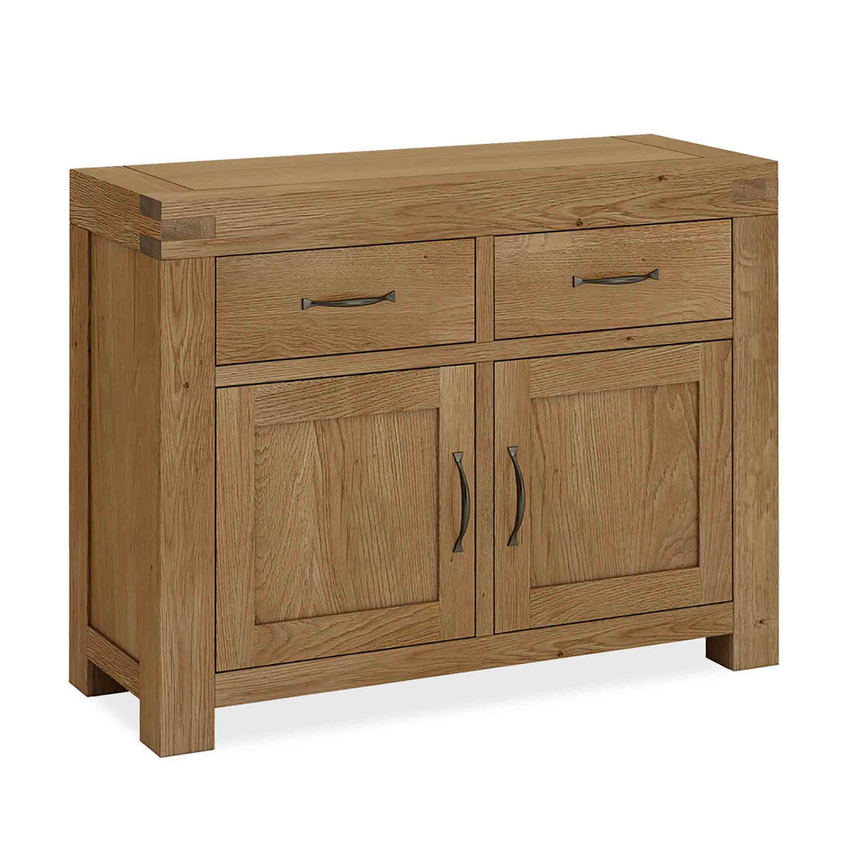 The Abbey Grande Oak Small Sideboard Cabinet with 2 Doors by Roseland Furniture