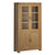 The Abbey Grande Oak Cupboard Display Cabinet with Glass from Roseland Furniture