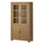 The Abbey Grande Oak and Glass Display Cabinet