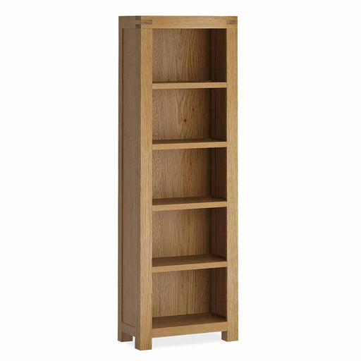 The Abbey Grande Tall Narrow Oak Bookcase from Roseland Furniture