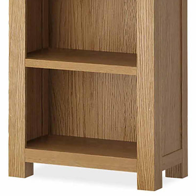 The Abbey Grande Tall Narrow Oak Bookcase - Close Up of Base of Bookcase