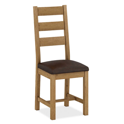 The Abbey Grande Solid Wood Oak Dining Chairs from Roseland Furniture