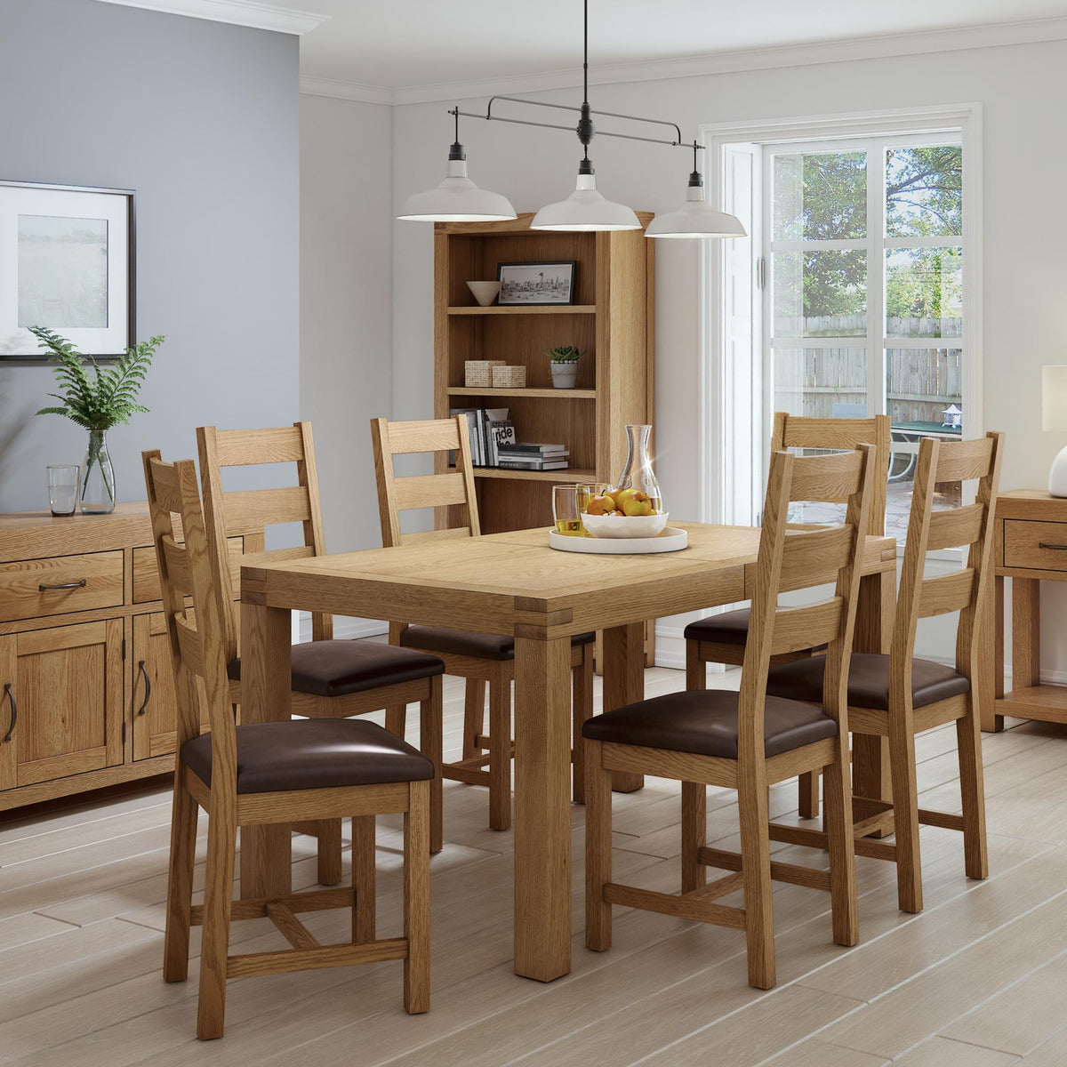 The Abbey Grande Solid Wood Oak Dining Chairs - Lifestyle