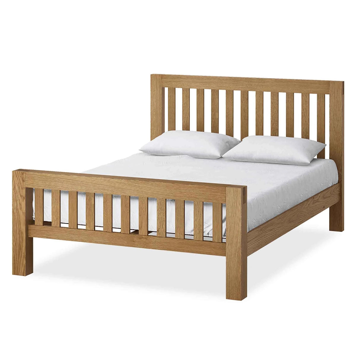 The Abbey Grande Wooden Oak Bed Frame Double or King Size from Roseland Furniture