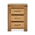 Abbey Grande Oak 3 Drawer Bedside Table - With drawers open