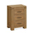 The Abbey Grande Wooden Oak 3 Drawer Bedside Table from Roseland Furniture