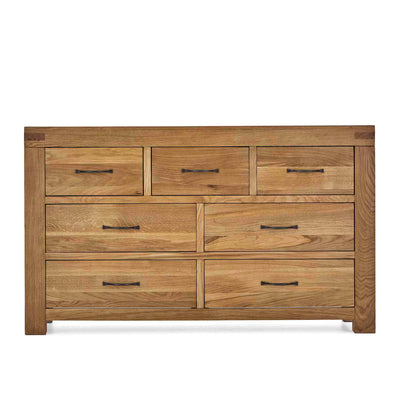 Abbey Grande Large Oak 3 Over 4 Chest of Drawers by Roseland Furniture