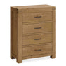 The Abbey Grande Oak Bedroom Chest of 4 Drawers from Roseland Furniture
