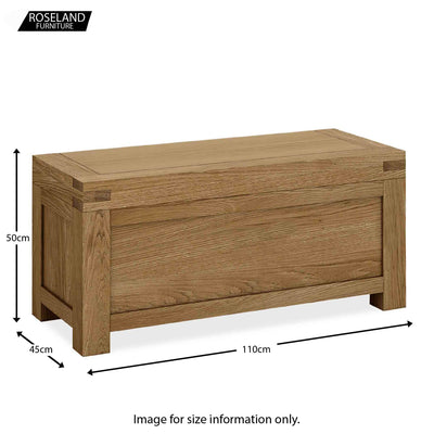 Abbey Grande Oak Blanket Box /Ottoman - Size guide