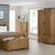The Abbey Grande Oak Blanket Box - Lifestyle View