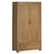 The Abbey Grande Oak 2 Door Double Wardrobe with Drawer from Roseland Furniture