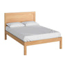 The Abbey Light Oak 4ft 6 Double Bed Frame by Roseland Furniture