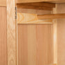 Single drawer metal handle of The Abbey Light Oak Double Wardrobe by Roseland Furniture