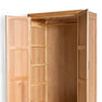 Leg view the Abbey Light Oak Double Wardrobe by Roseland Furniture