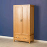 The Abbey Light Oak Double Wardrobe by Roseland Furniture