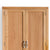 Abbey Light Oak Double Wardrobe - Close up of top of wardrobe