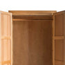 Door locks for The Abbey Light Oak Double Wardrobe by Roseland Furniture
