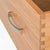 Base section of The Abbey Light Oak Double Wardrobe by Roseland Furniture