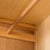 Abbey Light Oak 3 Door Triple Wardrobe with Drawers - Close up of end bracket for hanging rail