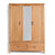 Abbey Light Oak 3 Door Triple Wardrobe with Drawers by Roseland Furniture