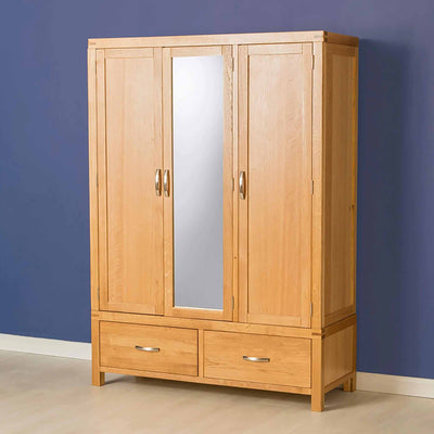 The Abbey Light Oak 3 Door Triple Wardrobe - Lifestyle