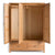 Abbey Light Oak 3 Door Triple Wardrobe with Drawers - Front view with wardrobe doors open
