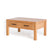 Abbey Waxed Oak Coffee Table with Storage - Side view
