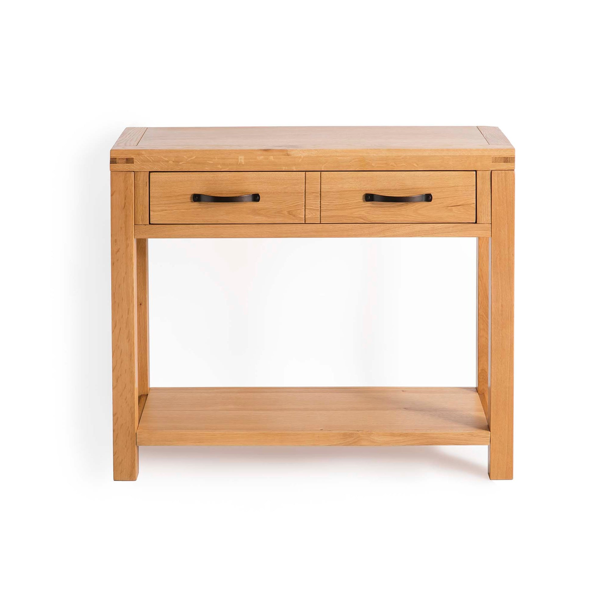Abbey Waxed Oak Console Table with Drawer by Roseland Furniture