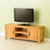 The Abbey Waxed 120cm Large Oak Television Stand Storage Unit